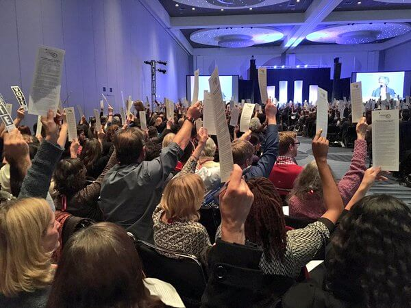 """1700 anthropologist academics at #AAA preparing to vote on boycott of #Israel #AnthroBoycott #AAA2015 "" Photo: Alex Shams via Twitter @seyyedreza"
