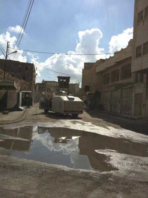 Hebron's deserted streets (Photo: Nancy Murray)