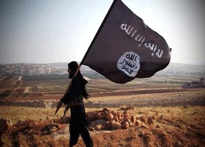 ISIS flag raised near Turkish Syrian border