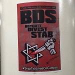 Anti-BDS poster.  (Photo: Julia Rapp)