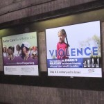 Palestine Advocacy Project's One Word campaign- Boston subway. Photo: Palestine Advocacy Project