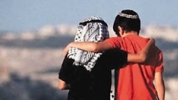 Faked photo of Jewish and Arab boys