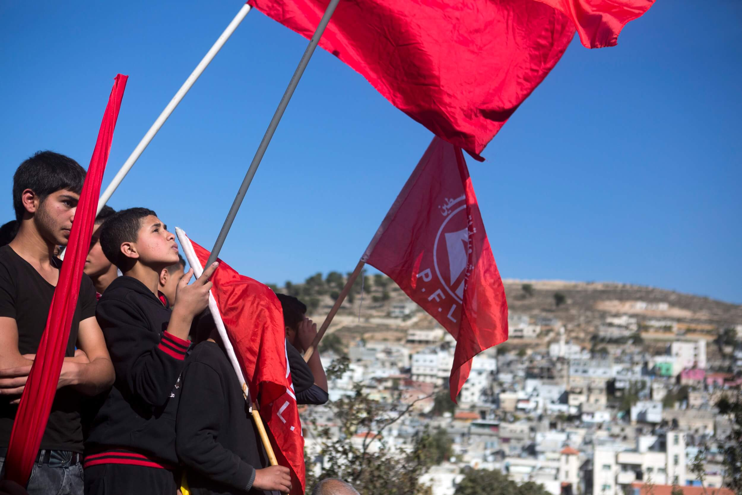 PFLP flags at funeral in Bethlehem