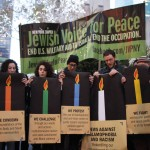 Activists speaking out against Islamophobia and racism in Rockefeller Plaza, Dec 6. (Photo: Jewish Voice for Peace)