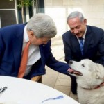 Netanyahu's dog with John Kerry