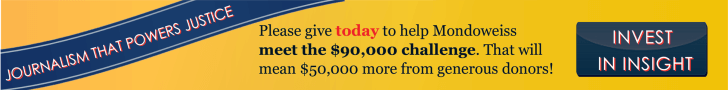 Multiply your donation to Mondoweiss by supporting our year end challenge.