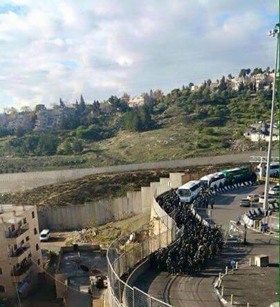 Israeli forces enter Shuafat refugee camp in East Jerusalem to demolish the family home of Ibrahim al-Akri, a Palestinian who killed three last fall in a hit-and-run attack. (Photo: Facebook)
