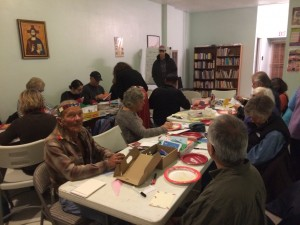 Albuquerque citizens gather together handcrafting messages of support for New Mexico Muslims
