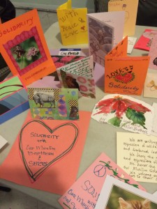 Handcrafted letters and cards of support sent to Albuquerque mosque on Friday Photo: Albuquerque Center for Peace & Justice