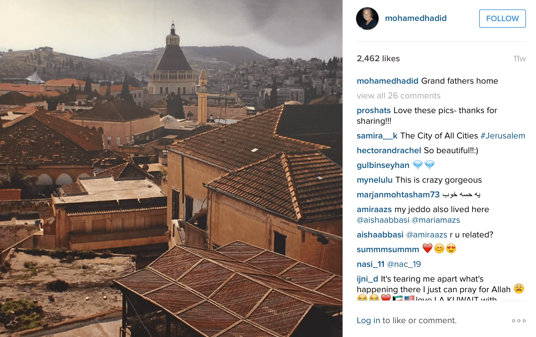 Picture of Mohamed Hadid's grandfather's home. (Photo: Instagram/Mohamed Hadid)