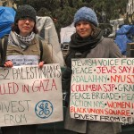 Activists protest GE's complicity in the Israeli attack on Gaza in 2012. (Photo: Jews Say No)