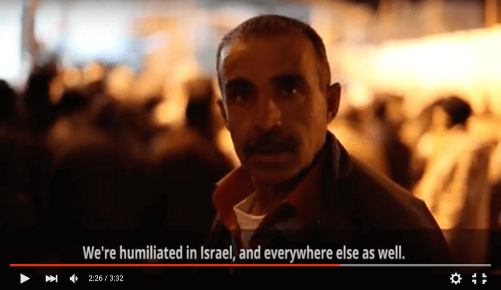 "Still from ""Palestinian laborers on why they work in Israel despite checkpoints and danger"""