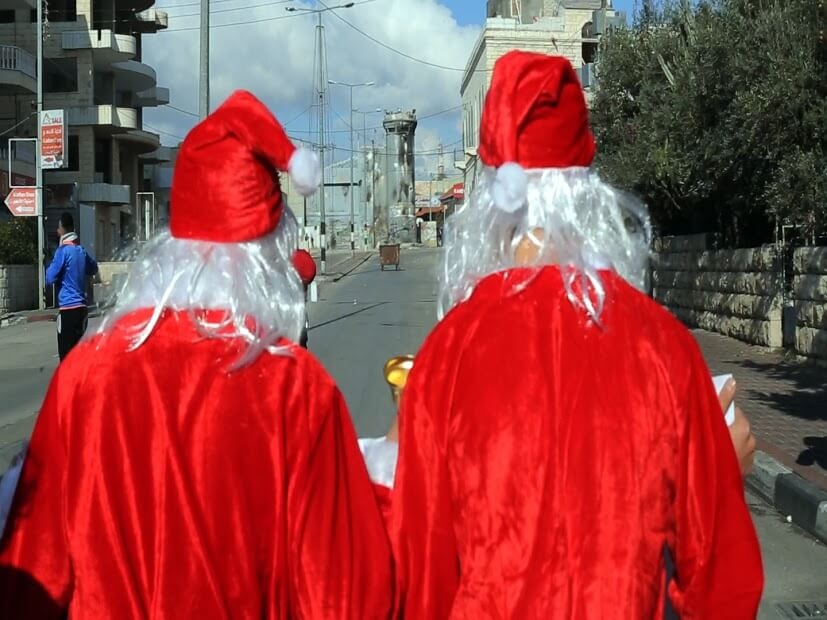 Two Santas in Bethlehem