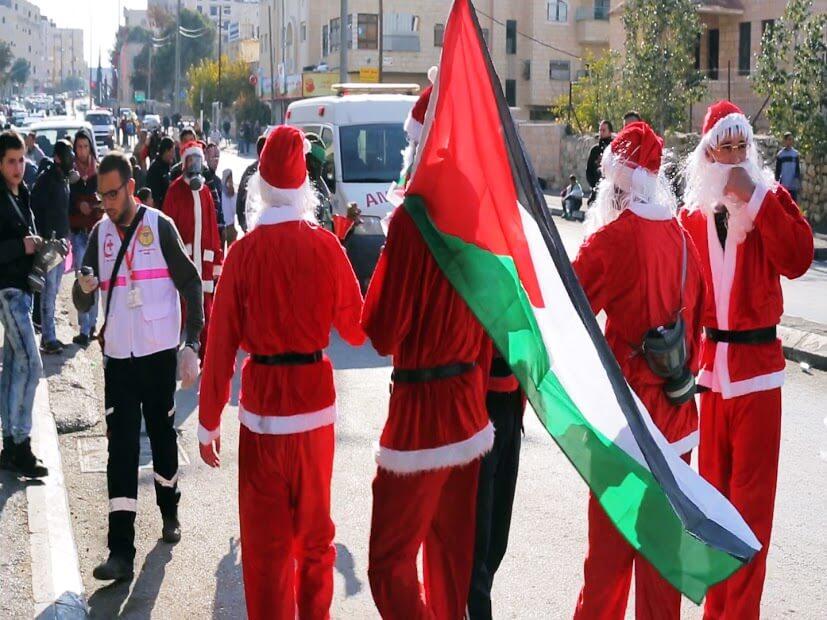 Santas in Bethlehem
