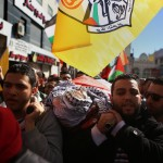 Mourners carry the body of Palestinian Mustafa al-Khatib,17, who Israeli military said was shot dead by Israeli soldiers after he tried to stab a soldier on 12 October, during his funeral in the West Bank city of Ramallah, on January 13, 2016. (Photo: Shadi Hatem/ APA Images)