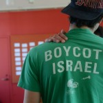 A pro-BDS student at an Open Hillel Conference. (Photo: Gili Getz)