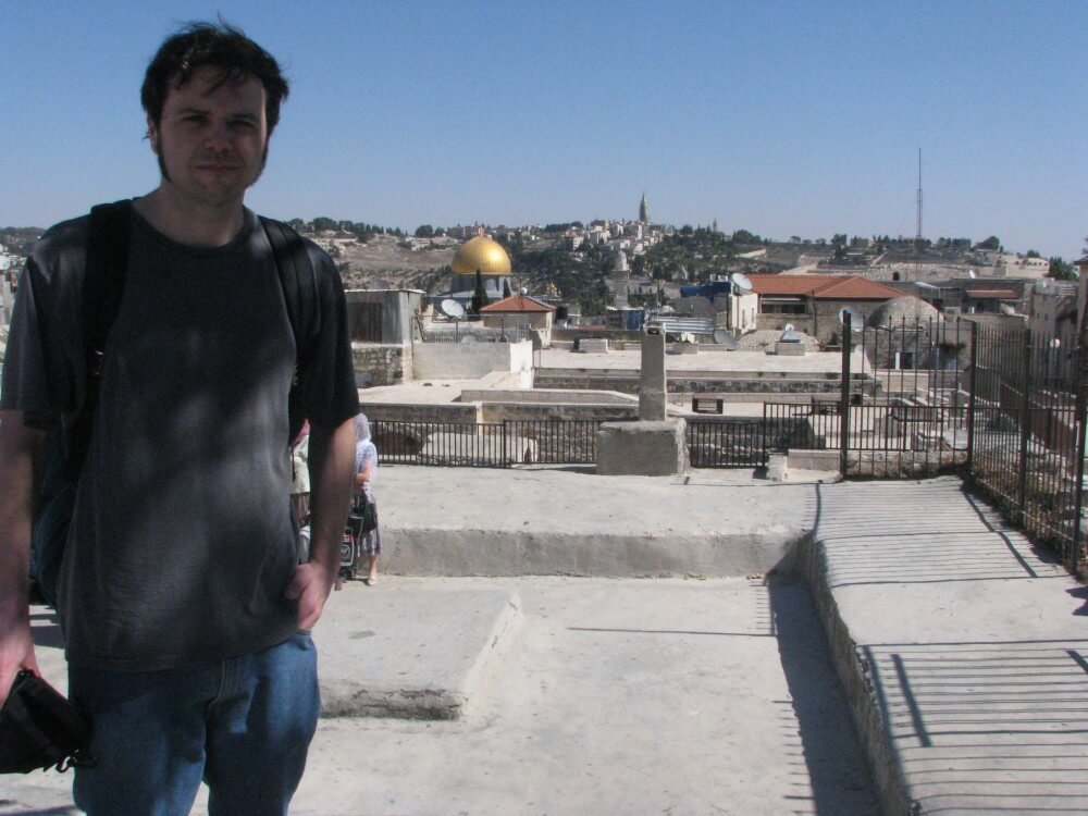 The author in Jerusalem's Old City.
