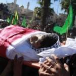 Mahmoud al Shalada, photograph from Ma'an, at funeral in November
