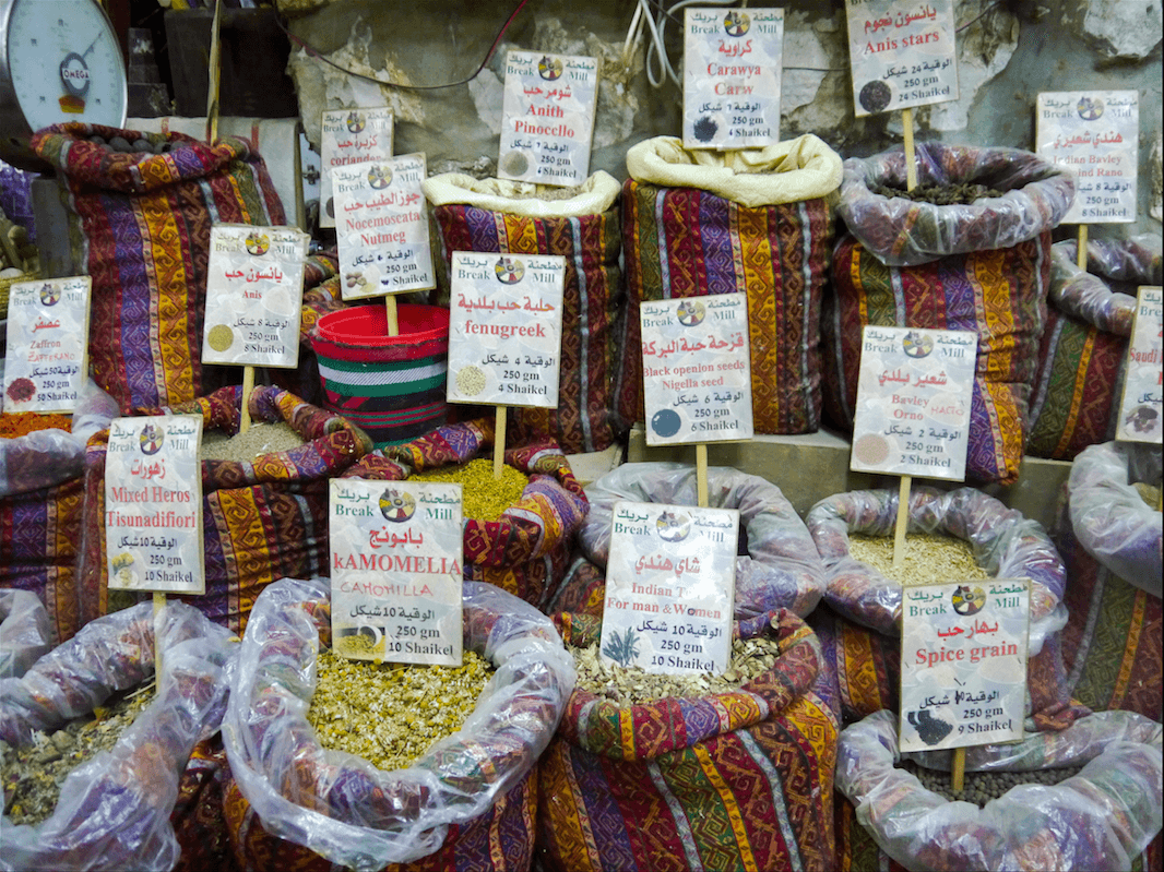 Spices in the souk. (Photo: Megan Hanna)