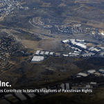 Human Rights Watch report cover shows Barkan, an Israeli residential settlement and industrial zone located in the occupied West Bank, that houses around 120 factories that export around 80 percent of their goods abroad. In the background is the Palestinian village of Qarawat Bani Hassan. (Photo: Human Rights Watch)