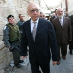 British MP Gerald Kaufman on a trip to Israel in 2010