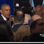 Obama after his speech at Israeli embassy Jan. 27, 2016, on CSPAN