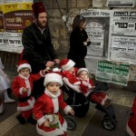J Street's Christmas card, based on a Purim celebration in Israel