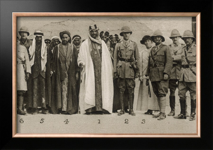 Abdel Aziz Ibn Saud with Sir Percy Cox