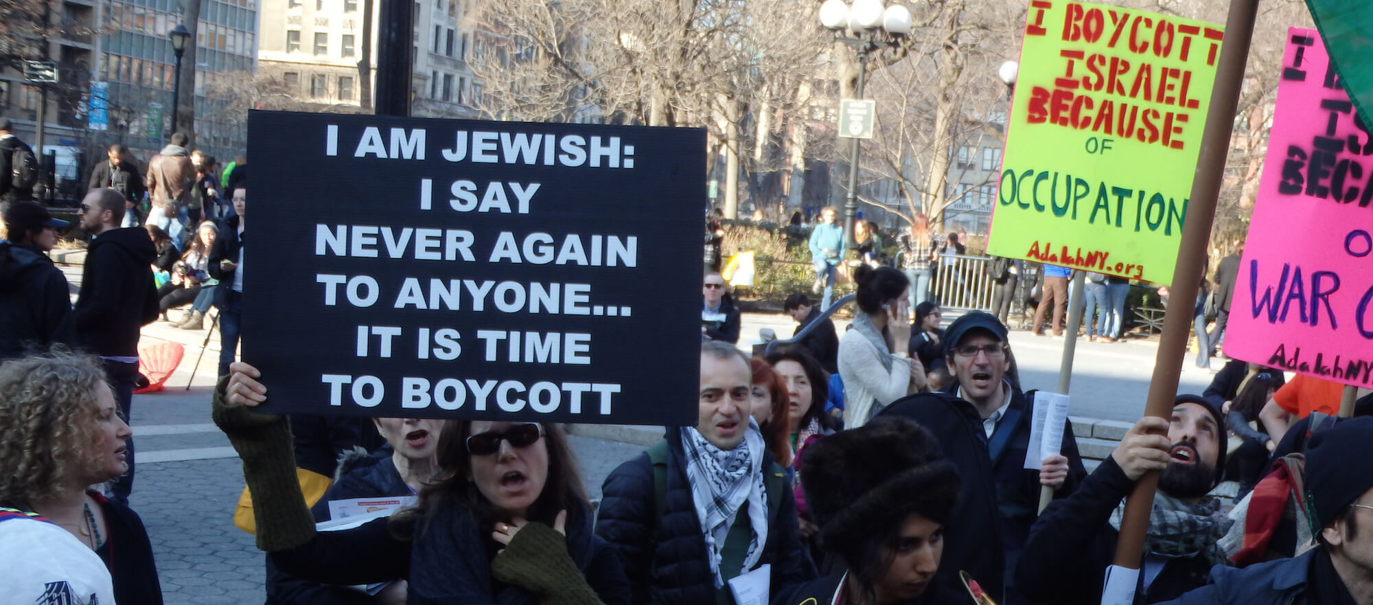 BDS march from Greenwich Village to Union Square in New York City on March 8th, 2014. (Photo: The All-Nite Images/ Flickr)
