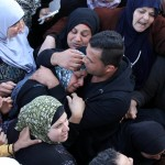 Relatives of Palestinian Nihad Waked who was shot dead by Israeli security forces as they reported fired on Israeli soldiers mourn during their funeral on February 14, 2016 in the village of Araka, West of Jenin in the Israeli occupied West Bank. (Photo: Nedal Eshtayah/APA Images)