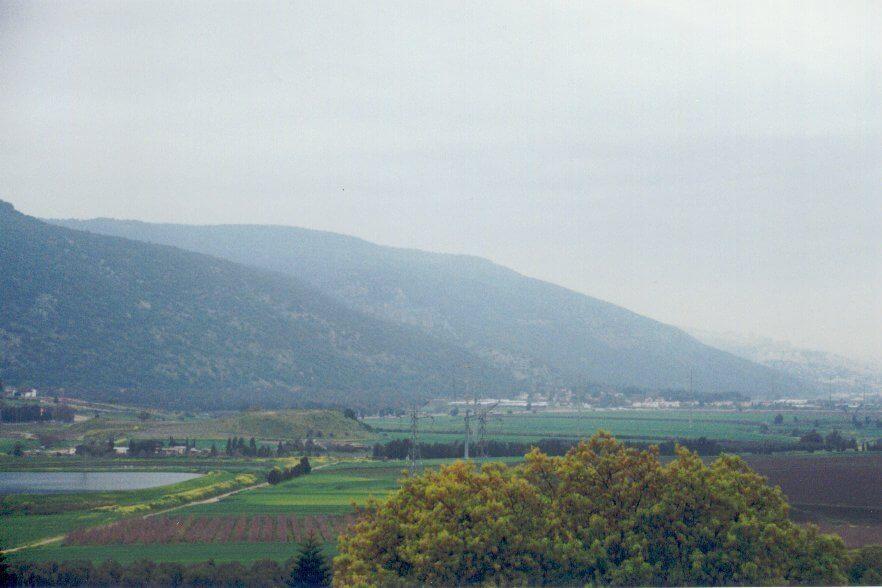 View west from kibbutz Bernie Sanders stayed on, Shaar Haamakim