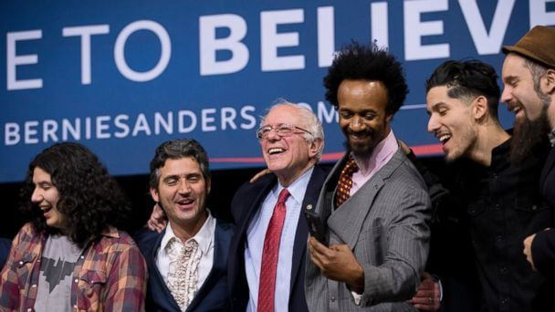 Final rally on the eve of the Nevada caucus, a lively concert in Henderson, Nevada Feb. 19, 2016 (photo: ABC News)