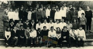 1964 photograph of young people at Shaar Hama'akim kibbutz. Some think Bernie Sanders is in the photo