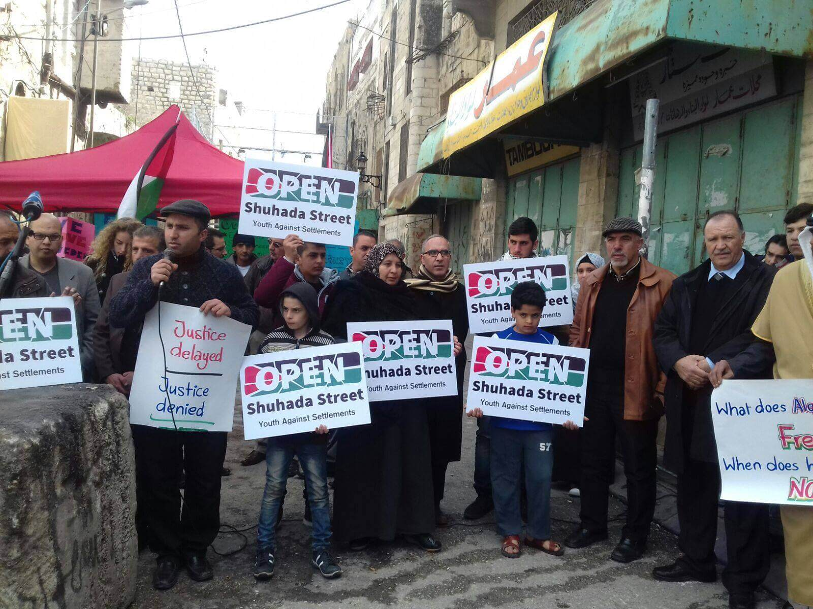Open Shuhada Street 2016 press confernce (Photo: Youth Against Settlements)
