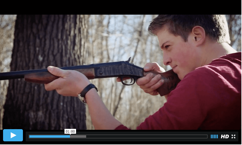 "Screenshot: Wyatt with firearm in ""BDS or the Bible"""