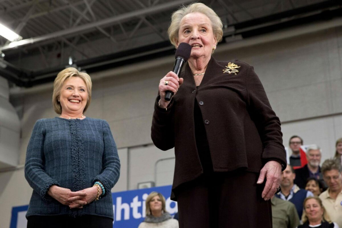 Madeleine Albright campaigning for Hillary Clinton in New Hampshire (Photo: AP)