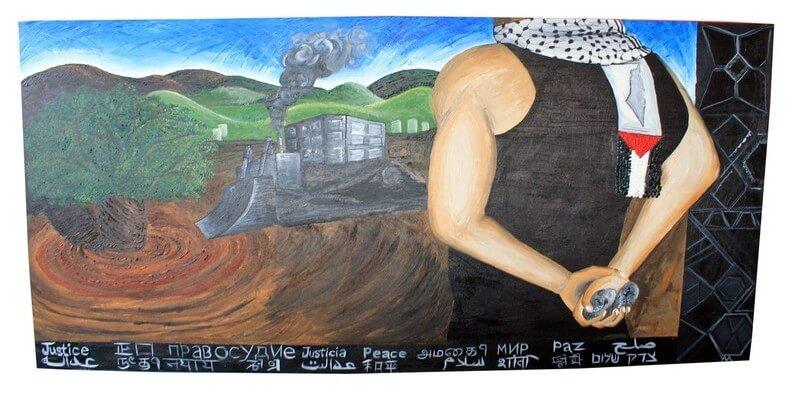 Ahmad Al Abid mural at York University