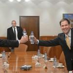 Benjamin Netanyahu and Marco Rubio in Netanyahu's office in 2013