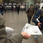 The faux New York Times supplement being distributed in New York.