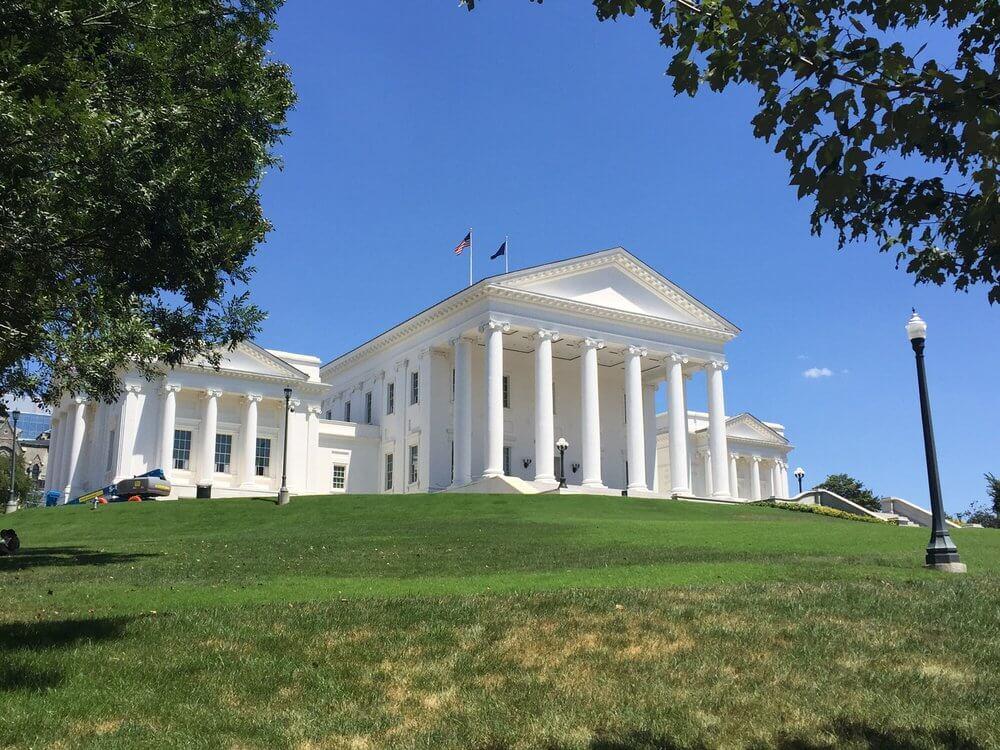 Virginia state capitol in Richmond, VA.