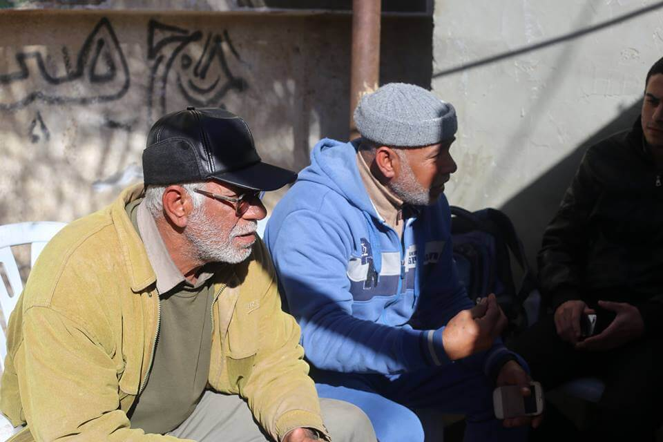 Albureim's father and uncle (photo by Kareem Abu Samra)