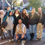 Students from Birzeit on the first Right to Education tour (Photo: NSJP)