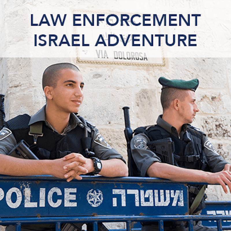 "An ad for the ""Law Enforcement Israel Adventure"""