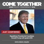 Donald Trump will be speaking at this year's AIPAC Policy Conference.