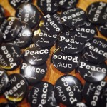 Peace badges. Credit, UJS