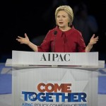 Hillary Clinton speaking to the 2016 AIPAC Policy Conference.