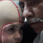 Hussein Dawabshe, with his grandson Ahmad, in 2016.