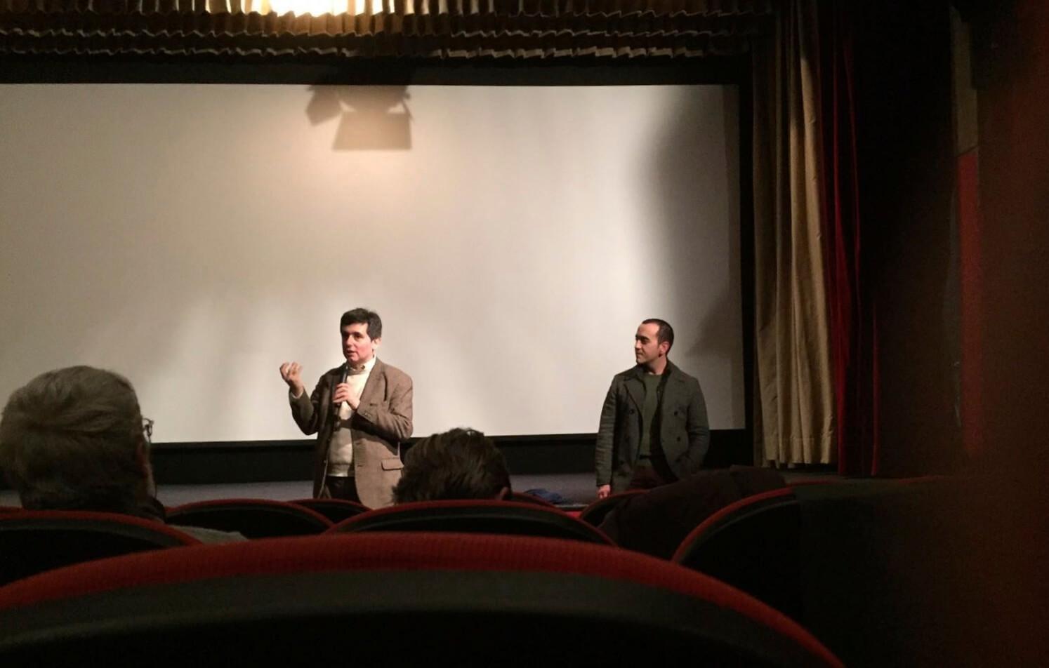 Director Muayad Alayan and Italian distributor Paolo Minuto (Photo: Silvia Hassouna)