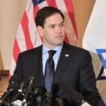 Marco Rubio, with Israeli flag, undated photo