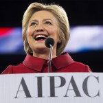 Hillary Clinton speaks at the AIPAC conference in Washington, D.C., March 21, 2016. Photo:  Saul Loeb/Getty Images